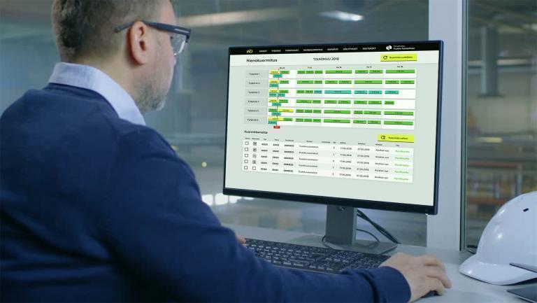 Skyplanner - tuotannonsuunnittelu ja hienokuormitus tekoälyllä